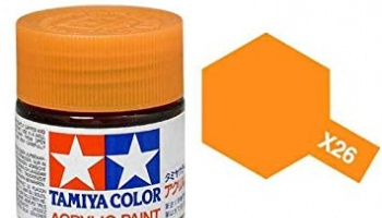 X-26 Clear Orange Acrylic Paint Mini X26 - Tamiya