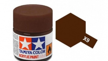 X-9  Brown Acrylic Paint Mini X9 - Tamiya