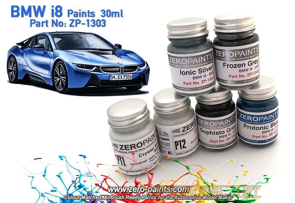 Bmw I8 Paints Ionic Silver 30ml Zero Paints Car Model Kit Com