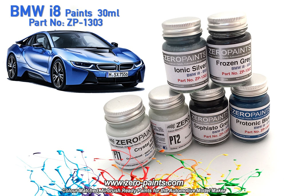Bmw I8 Sophisto Grey 30ml Zero Paints Car Model Kit Com