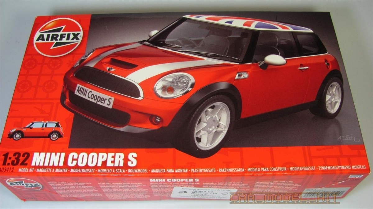 Bmw Mini Cooper S Airfix Car Model Kit Com
