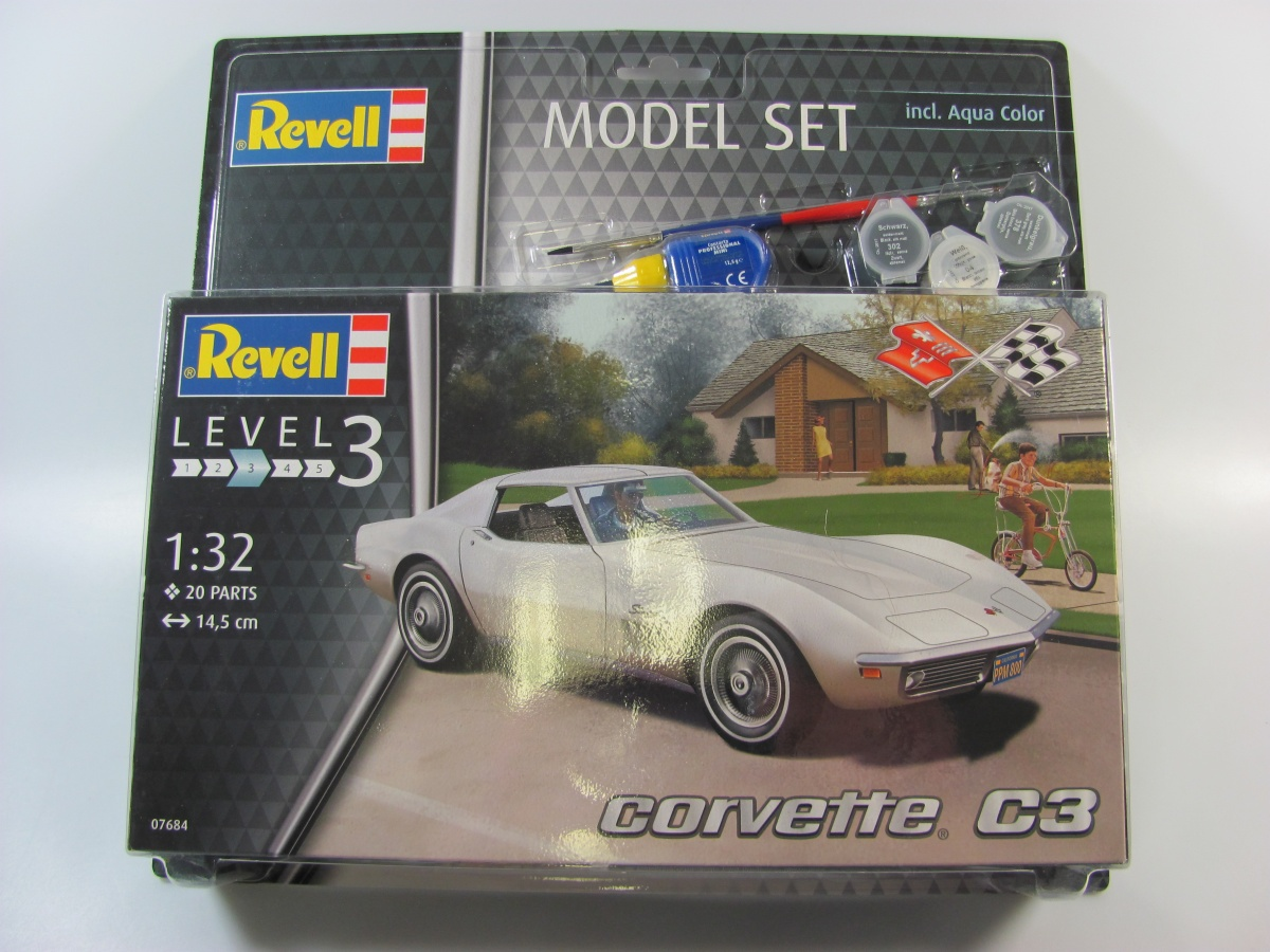 Corvette C3 Set Revell Car Model Kit Com