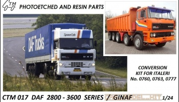 DAF 2800 – 3600 SERIES / GINAF - Czech Truck Model