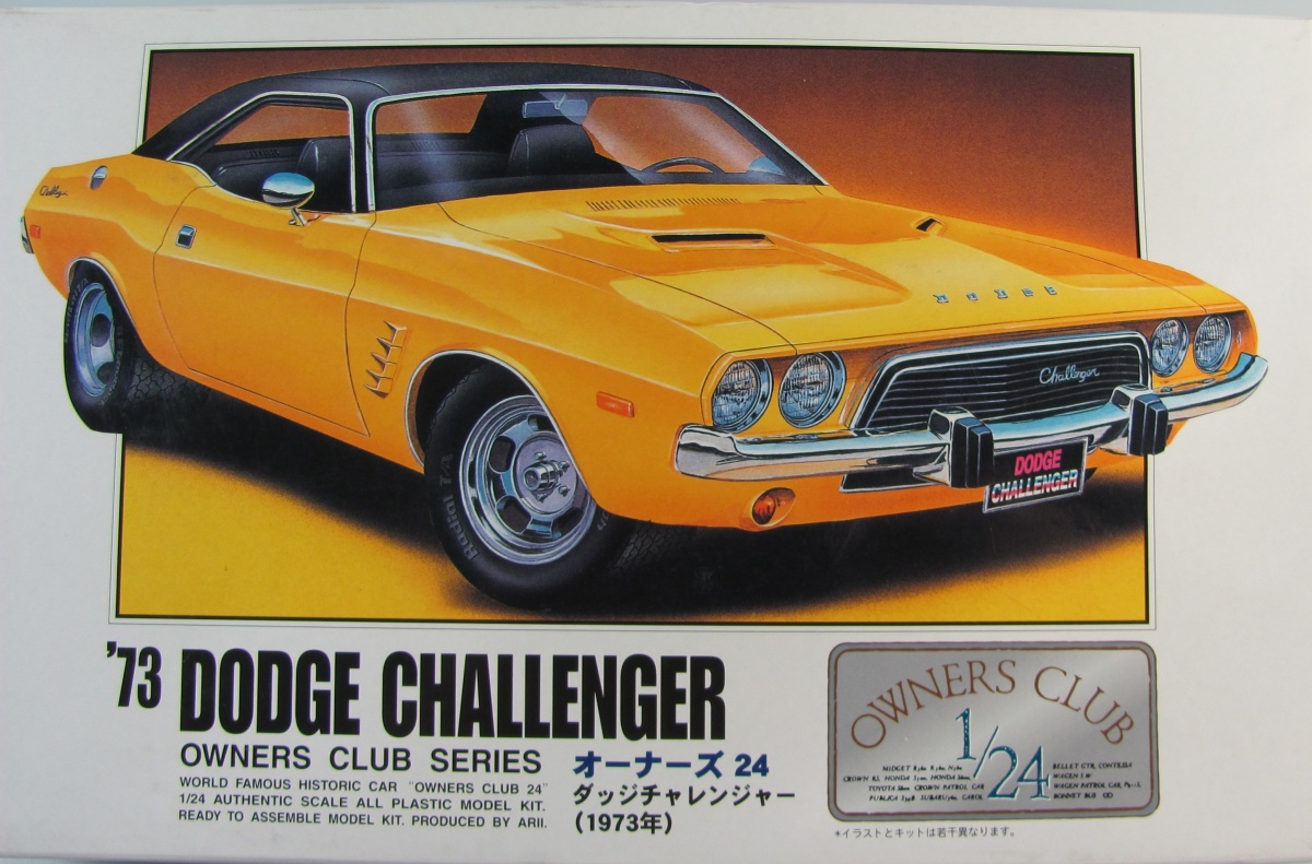 Dodge Challenger 73 Arii Car Model Kit Com