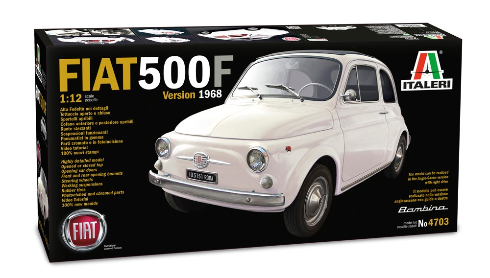 Discount Car Parts >> Fiat 500 F - Italeri | Car-model-kit.com