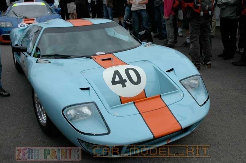 Ford Gt And Porsche K Gulf Blue Orange Zero Paints