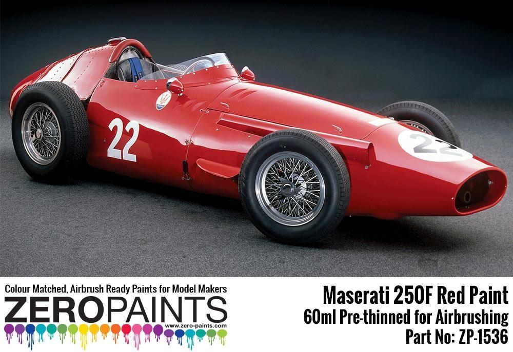 maserati 250f red paint 60ml - zero paints | car-model-kit