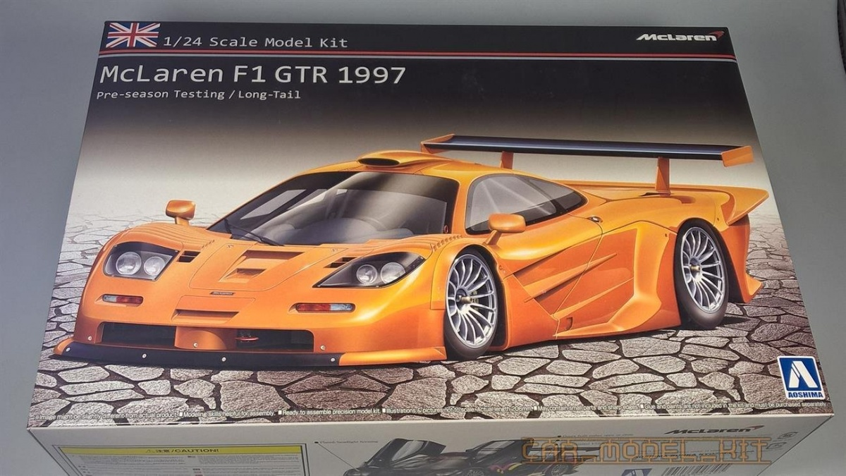 MCLAREN F1 GTR Long Tail 1997 - Aoshima | Car-model-kit.com
