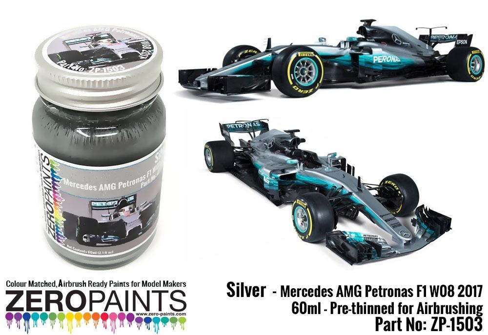 Mercedes Amg Petronas F1 W08 2017 Silver 60ml Zero Paints Car