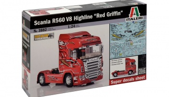 "SCANIA R560 V8 HIGHLINE ""RED GRIFFIN"" - Italeri"