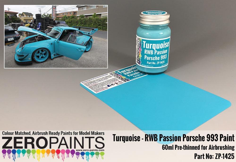 Rwb Rauh Passion Porsche 993 Turquoise Paint 60ml Zero