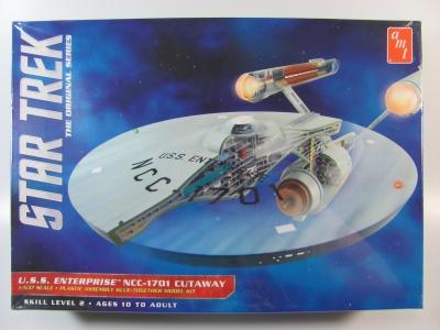 star trek uss enterprise ncc1701 cutaway amt car model kit com