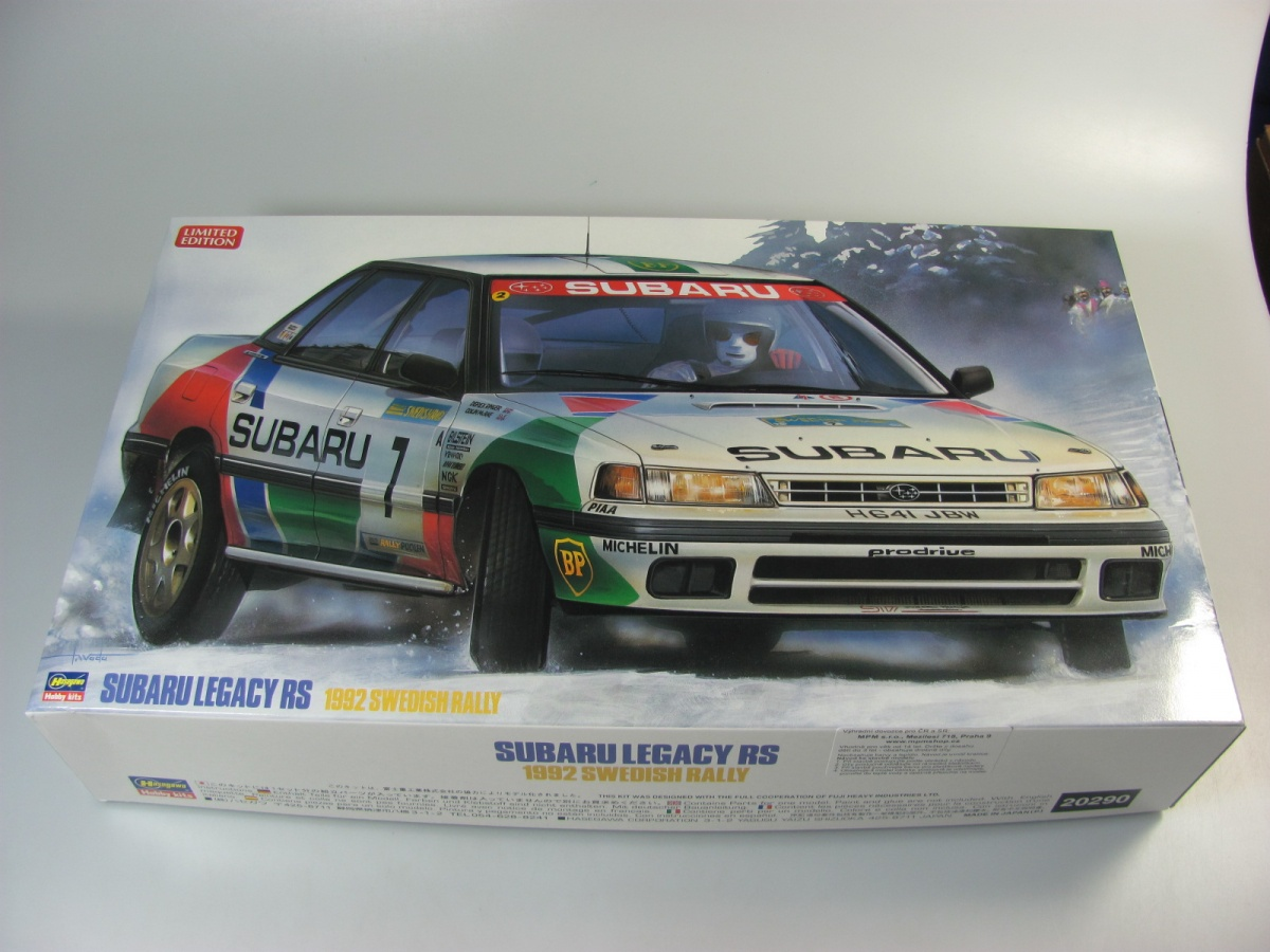 Subaru Legacy Rs 1992 Swedish Rally Hasegawa Car Model Kit Com