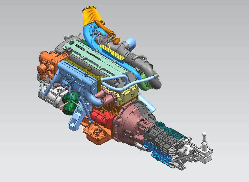 Toyota Supra 2JZ Engine Kit - Hobby Design | Car-model-kit.com