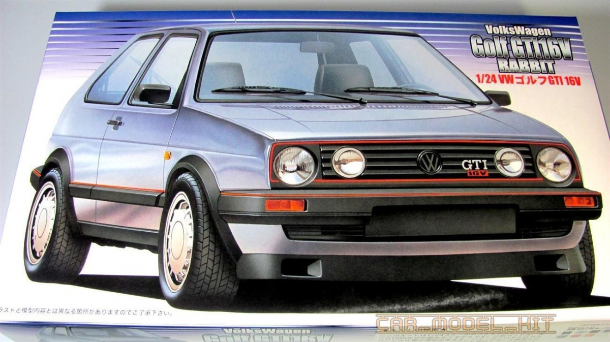 volkswagen golf ii gti 16v fujimi car model. Black Bedroom Furniture Sets. Home Design Ideas