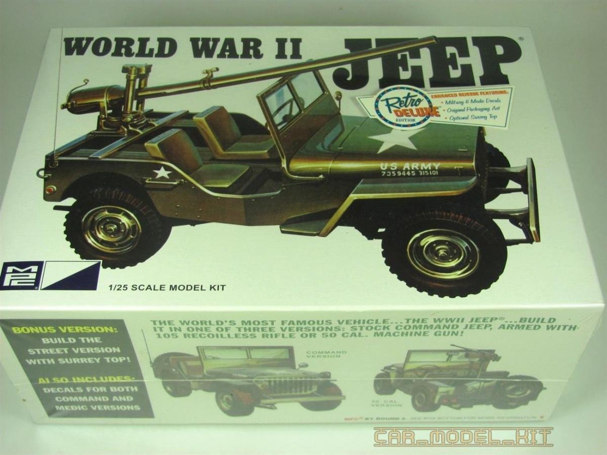 World War Ii Military Jeep Mpc Car Model Kit Com
