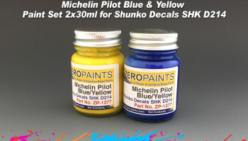 Michelin Pilot Blue & Yellow Paint Set 2x30ml for Shunko Decals SHK D214 - Zero Paints