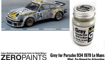 Grey for Porsche 934 1979 #84 Le Mans Paint 60ml - Zero Paints