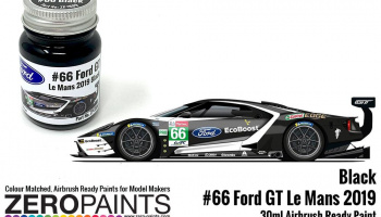 #66 Ford GT Le Mans Black Paint 30ml - Zero Paints