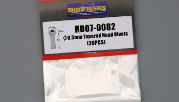 Tapered Head Rivets 0.5mm - Hobby Design