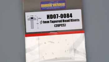 Tapered Head Rivets 1mm - Hobby Design