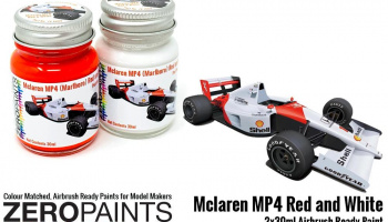 Mclaren MP4 (Marlboro) Red and White Paint Set 2x30ml - Zero Paints