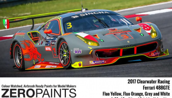 2017 Clearwater Racing Ferrari 488GTE Paint 4x30ml - Zero Paints
