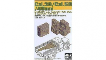 30Cal/.50 Cal/40mm Modern US ammunition box 1/35 - AFV Club