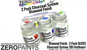 Diamond Finish - 2 Pack GLOSS Clearcoat System (2K Urethane) 3x30ml - Zero Paints