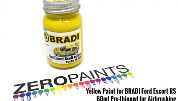 Yellow Paint for BRADI Ford Escort RS 60ml - Zero Paints