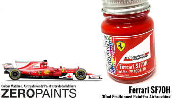 Ferrari SF70H (2017 Formula One) Red Paint 30ml - Zero Paints