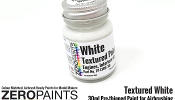 White Textured Paint - 30ml (Engines, Interiors etc) - Zero Paints