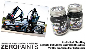 Mclaren GTR 1995 Le Man Winner Car 59 Ueno Clinic Paint Set 2x30ml - Zero Paints