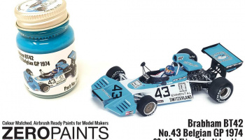 Brabham BT42 Blue Turquoise Paint 30ml - Zero Paints