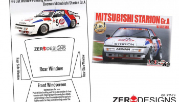 Mitsubishi Starion Turbo Gr.A Pre Cut Window Painting Masks (Beemax) - Zero Paints