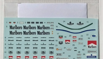 McLaren Marlboro A. Senna Figure & Pit Crew Decal for Tamiya - Decalpool