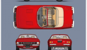 Ferrari 365 GTS/4 Fulldetail Kit - Model Factory Hiro