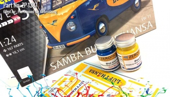 Lufthasa Samba Bus - Blue and Yellow Paint Set 2x30ml - Zero Paints
