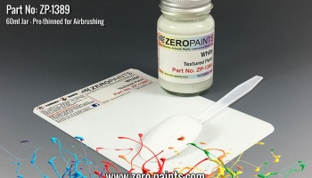 White Textured Paint - 60ml (Engines, Interiors etc) - Zero Paints