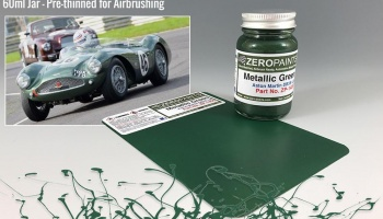 Aston Martin DBR3S LM Metallic Green Paint 60ml - Zero Paints