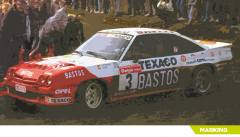 Opel Manta 400 Bastos Texaco Rally Team #3 - Decalcas