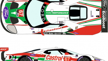 Ford GT LM #67 Castrol Rolex 24h Daytona 2019 - Racing Decals 43