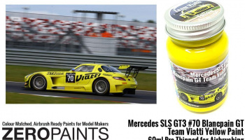 Mercedes SLS GT3 #70 Blancpain GT Team Viatti Yellow - Zero Paints