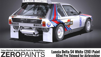 Lancia Delta S4 Rally 1986 Monte Carlo Rally White (210) Paint 60ml - Zero Paints