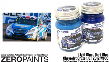 Light Blue / Dark Blue Paint for Chevrolet Cruze 1.6T 2012 WTCC 2x30ml - Zero Paints