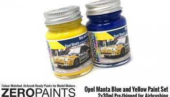 Opel Manta - Blue and Yellow Paint Set 2x30ml - Zero Paints