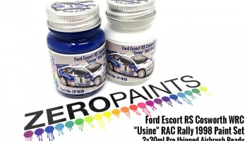 "Ford Escort RS Cosworth WRC ""Usine"" RAC Rally 1998 Paint Set 2x30ml - Zero Paints"