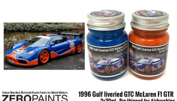 1996 Gulf liveried GTC McLaren F1 GTR Paint Set 2x30ml - Zero Paints