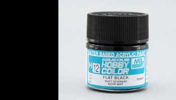 Hobby Color H 012 - Flat Black - Gunze