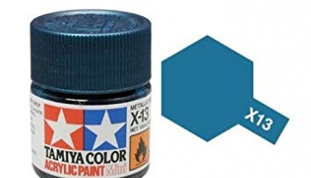 X-13 Metallic Blue Acrylic Paint Mini X13 - Tamiya
